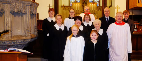 Photo of the choir at St Paul's Church Winlaton